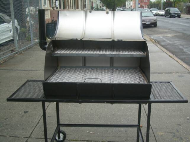 Grills. The Conventional Smoker $550.00 55 gallon drum with offset fire box